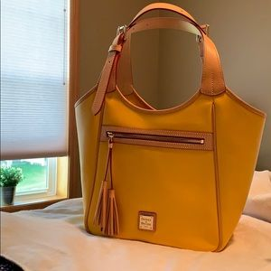 Dooney and Bourke Saffiano tote in Dandelion